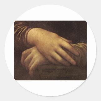 レオナルド・ダ・ヴィンチc. 1505-1513年著モナ・リザの手 ラウンドシール