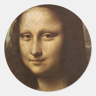 レオナルド・ダ・ヴィンチc. 1505-1513年著モナ・リザの顔 ラウンドシール