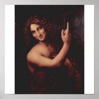 レオナルド・ダ・ヴィンチc. 1513-1516年著洗礼者ヨハネ ポスター