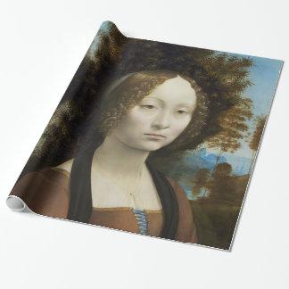 レオナルド・ダ・ヴィンチGinevra De Benciの絵画 ラッピングペーパー