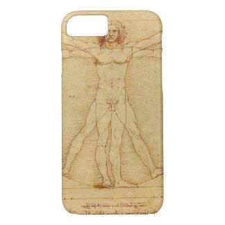 レオナルド・ダ・ヴィンチVitruvianの人の解剖学 iPhone 8/7ケース