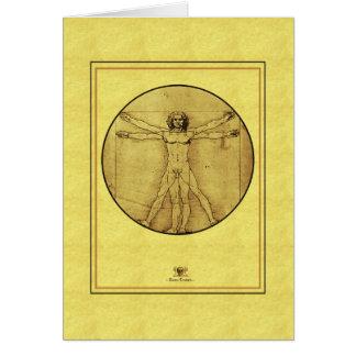 """レオナルドde vinci """"Vitruvian人"""" カード"""