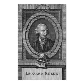 レオナルドEulerのポートレート ポスター