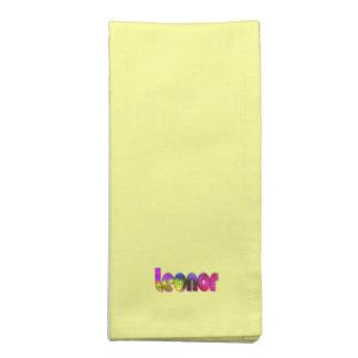 レオノールの黄色い夕食ナプキン ナプキンクロス