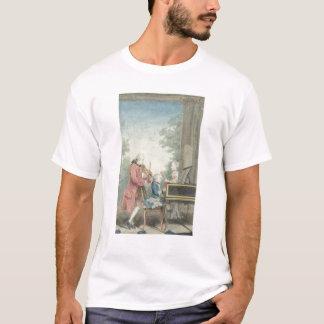 レオポルト・モーツァルトおよび彼の子供ウォルフガング Tシャツ