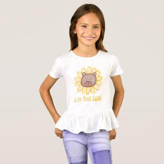 レオライオン-女の子のひだのTシャツ Tシャツ