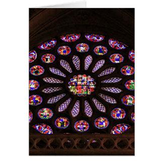 レオンのカテドラルの窓、El Camino、スペイン カード