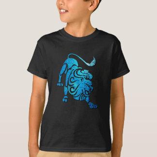 レオ星座の子供の黒いTシャツ Tシャツ