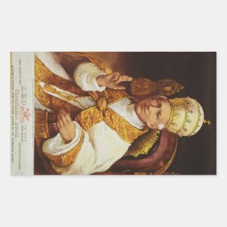 レオ法皇XIIIビンチェンツォGioacchinoルイージPecci 長方形シール