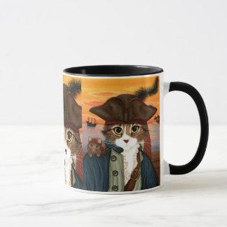 レオ、海賊大尉猫及びラットのファンタジーの芸術のマグ マグカップ