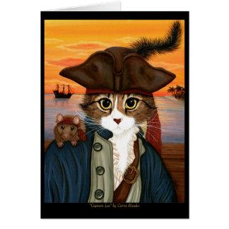 レオ、海賊大尉猫及びラットのファンタジーの芸術カード カード