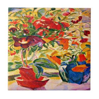 レオGestel - Windowsillの1915年のアートワークの花 タイル