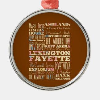 レキシントンFayette、ケンタッキーの有名な場所 メタルオーナメント