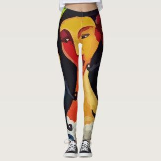 レギングのポップアートの熱帯女性 レギンス