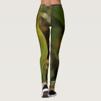 レギング-緑の葉 レギンス