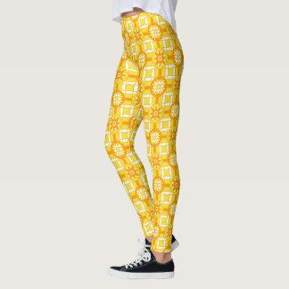 レギンスの幾何学的な#318金黄色 レギンス