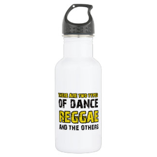 レゲエのダンスのデザイン ウォーターボトル