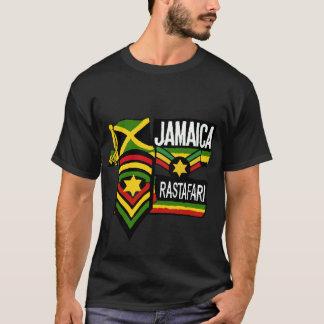 レゲエのラスタの黒のTシャツのRastafarian色 Tシャツ