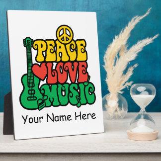 レゲエの平和愛音楽 フォトプラーク