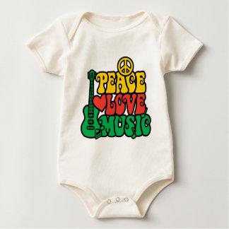 レゲエの平和愛音楽 ベビーボディスーツ