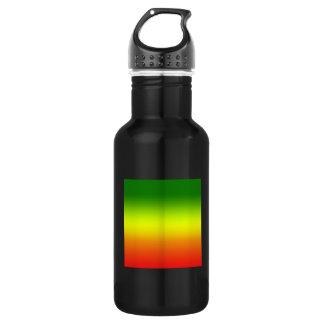 レゲエの虹の旗のデザイン ウォーターボトル