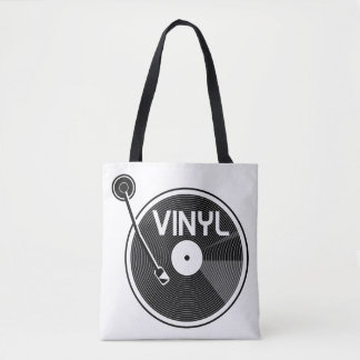 レコードのターンテーブル トートバッグ