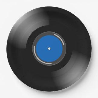 レコードのデザイン ペーパープレート