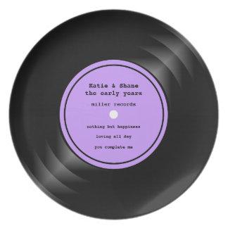レコードのメラミンプレート プレート