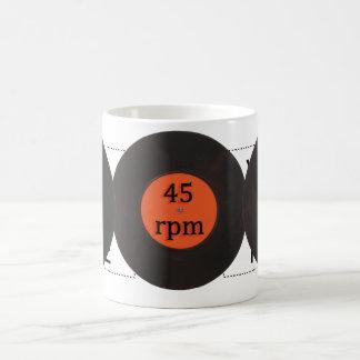 レコードのヴィンテージインチ独身のな45のrpm 7 コーヒーマグカップ