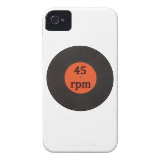 レコードのヴィンテージインチ独身のな45のrpm 7 Case-Mate iPhone 4 ケース
