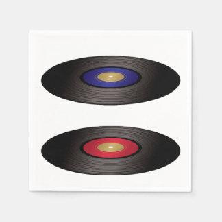 レコードの紙ナプキン スタンダードカクテルナプキン