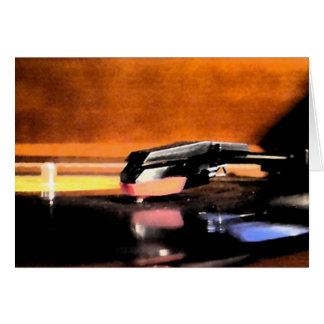 レコードプレーヤのnotecard カード
