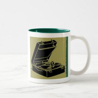 レコードプレーヤーのマグ ツートーンマグカップ