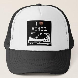 レコードプレーヤI愛ビニールピクセル芸術の帽子 キャップ