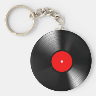 """""""レコード""""のデザインのジュエリーセット キーホルダー"""