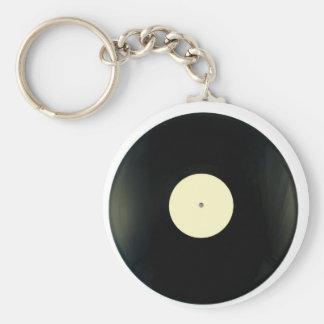レコード ベーシック丸型缶キーホルダー