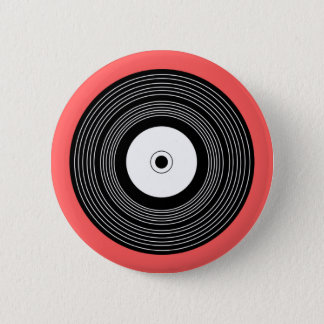 レコード-ロゴボタンPinのバッジ 缶バッジ