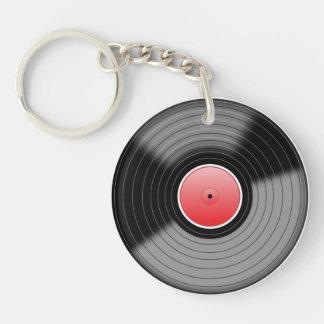 レコードKeychain 丸型(片面)アクリル製キーホルダー
