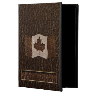 レザールックのカナダの旗の暗闇 POWIS iPad AIR 2 ケース