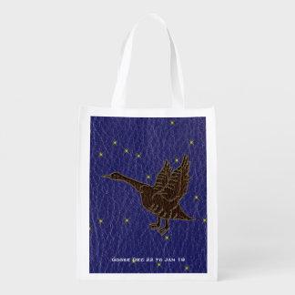 レザールックのネイティブアメリカンの(占星術の)十二宮図のガチョウ エコバッグ