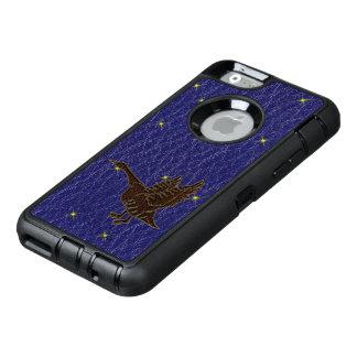 レザールックのネイティブアメリカンの(占星術の)十二宮図のガチョウ オッターボックスディフェンダーiPhoneケース
