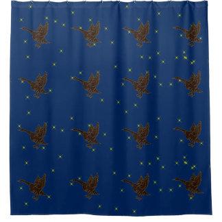 レザールックのネイティブアメリカンの(占星術の)十二宮図のガチョウ シャワーカーテン
