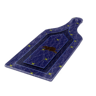 レザールックのネイティブアメリカンの(占星術の)十二宮図のビーバー カッティングボード