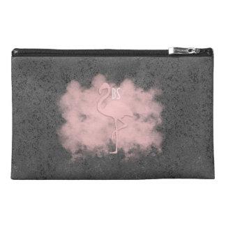 レザールックのピンクのフラミンゴの雲粗かったバッグ トラベルアクセサリーバッグ