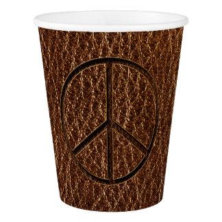 レザールックの平和ブラウン 紙コップ