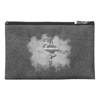 レザールックの銀製のフラミンゴの雲粗かったバッグ トラベルアクセサリーバッグ