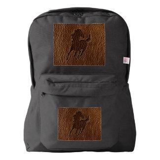 レザールックの馬 AMERICAN APPAREL™バックパック