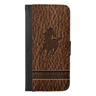 レザールックの馬 iPhone 6/6S PLUS ウォレットケース