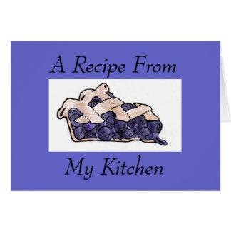 レシピからの、私の台所Notecard カード