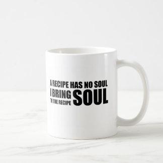 レシピに精神がありません。 私は調理法に精神を持って来ます コーヒーマグカップ